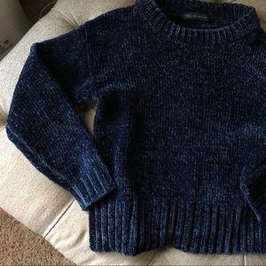 Marks & Spencer Navy Chenille Sweater